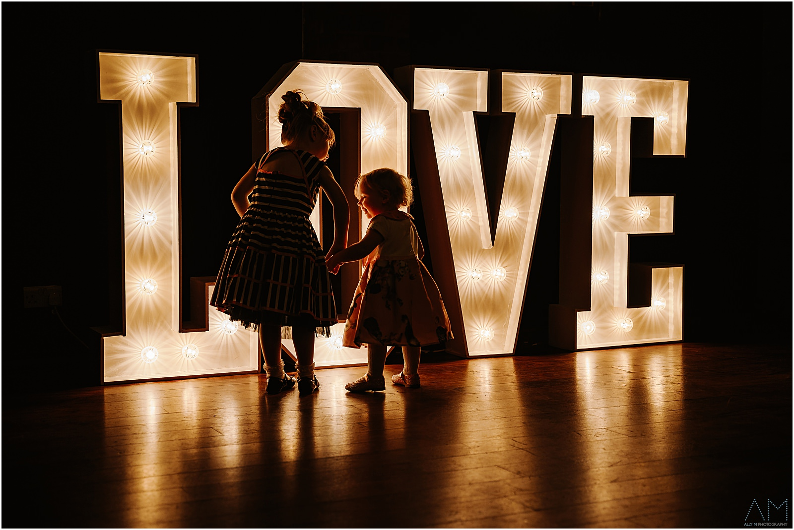 Kids with love sign
