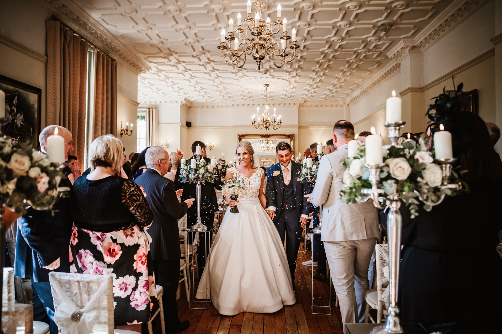 Just married at Nunsmere hall