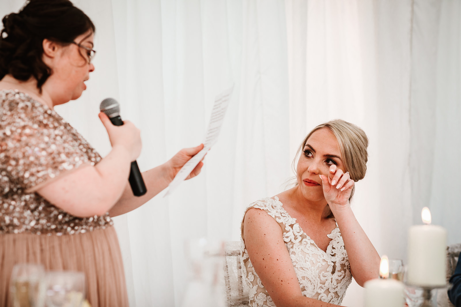 Emotional speech from the brides sister