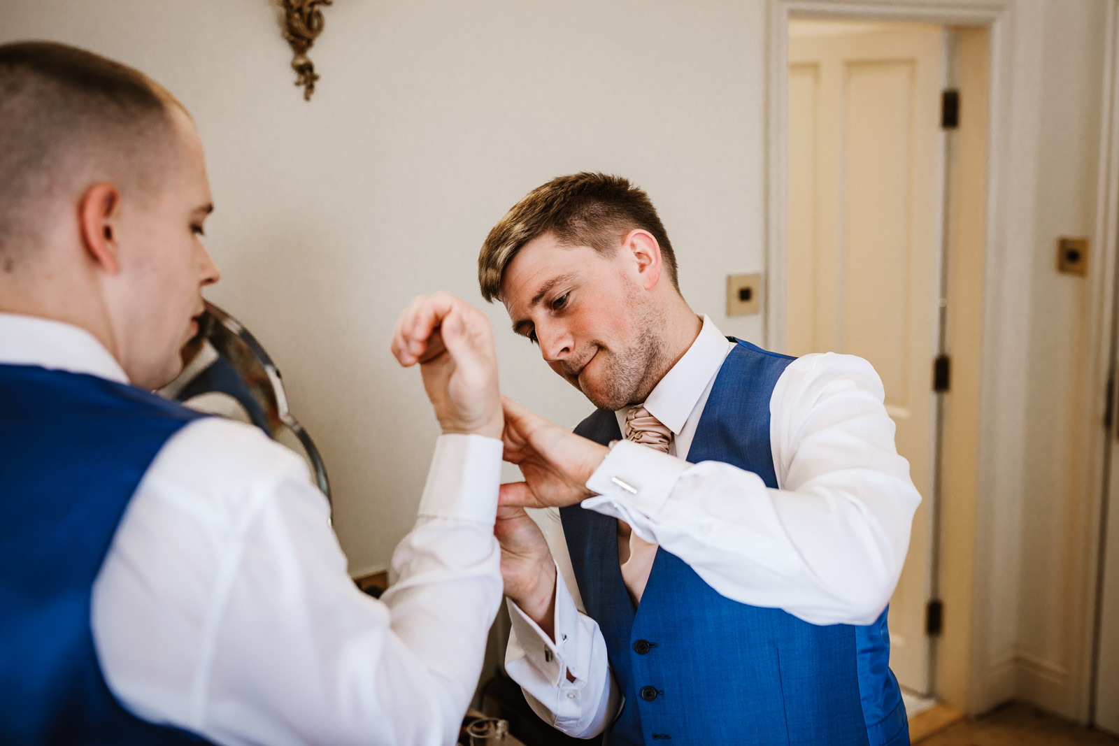 Groom preparations at Nunsmere Hall