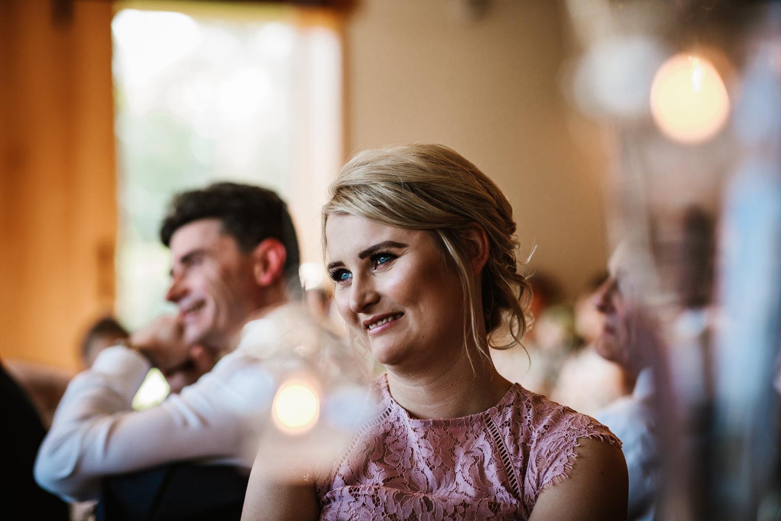 Happy bridesmaid