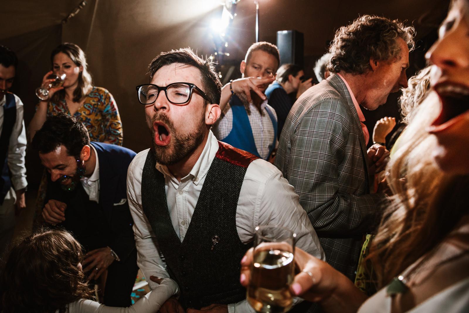 wild wedding party