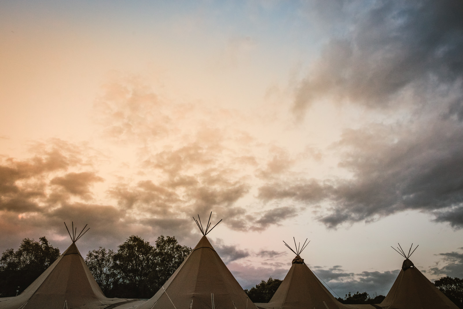 Tipi wedding in the lake district