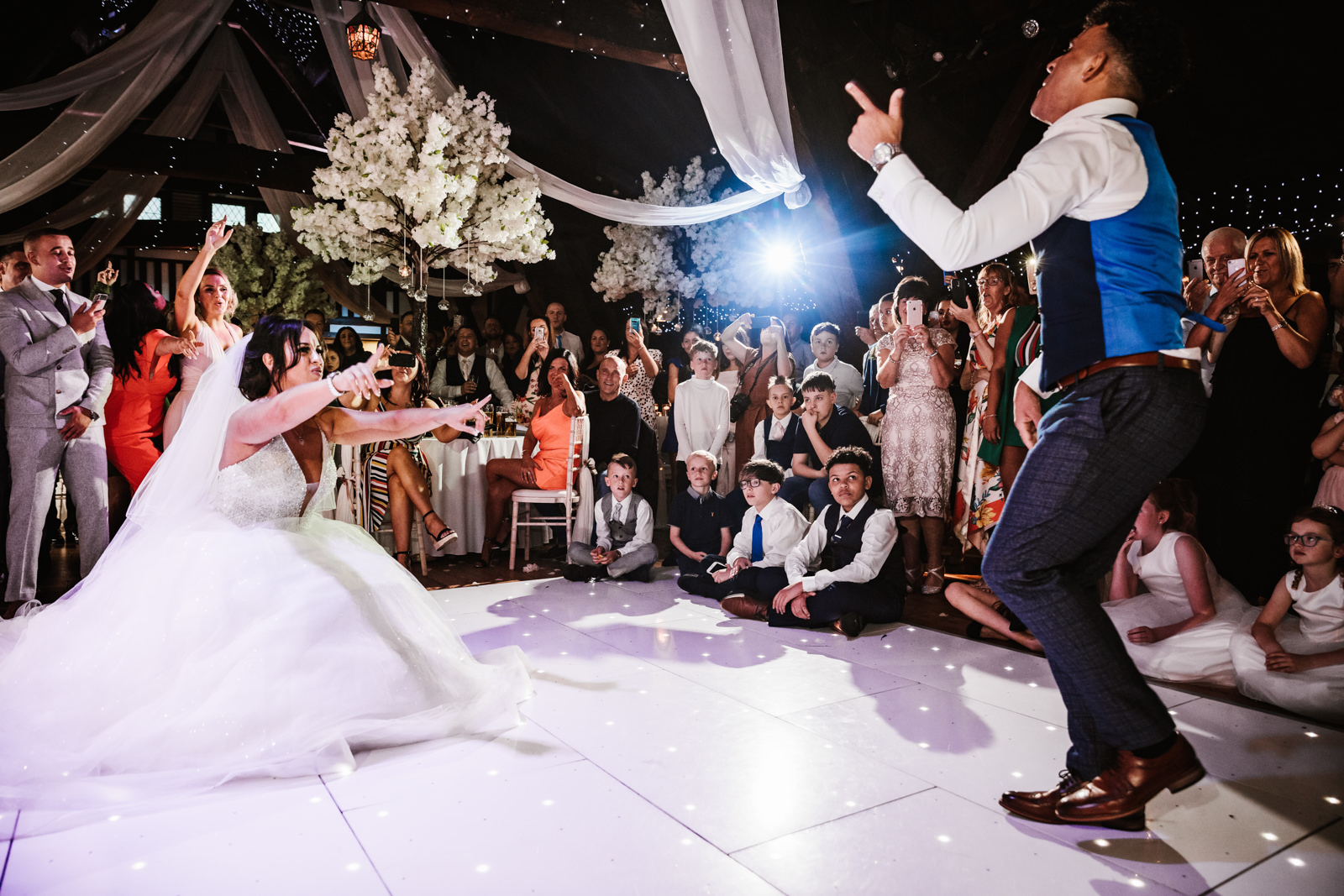 First dance at Rivington hall barn