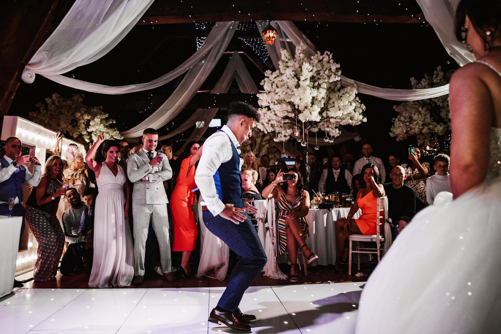 Groom with amazing moves