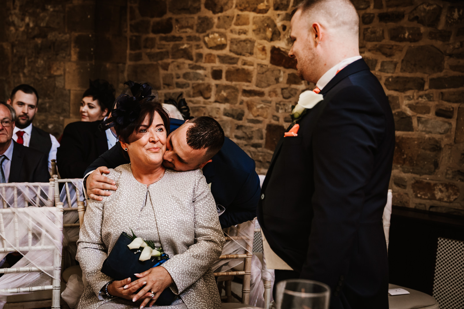 Kiss for the mother of the bride
