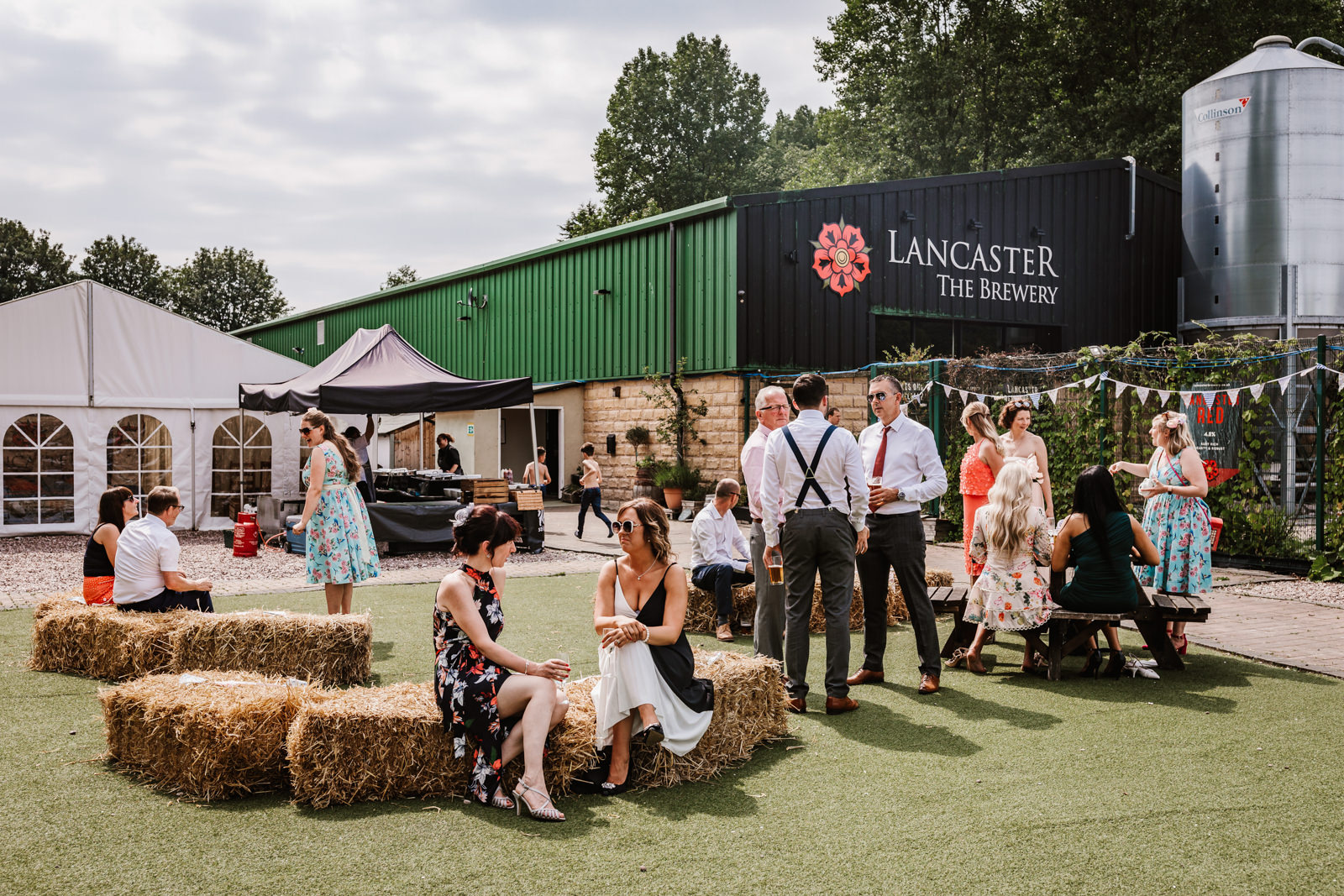 Summer wedding at Lancaster brewery
