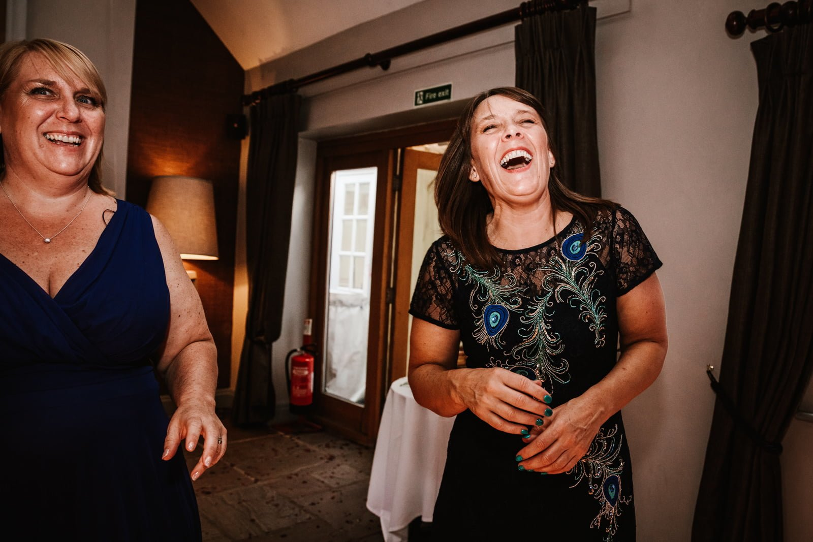 Mum laughing on the dance floor