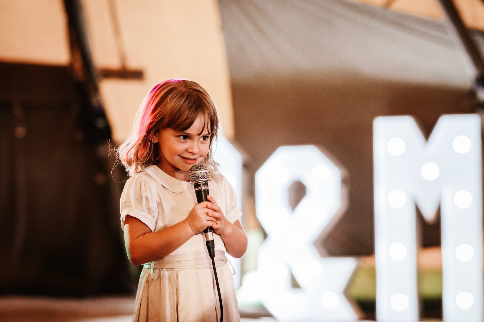 Flower girl gives speech