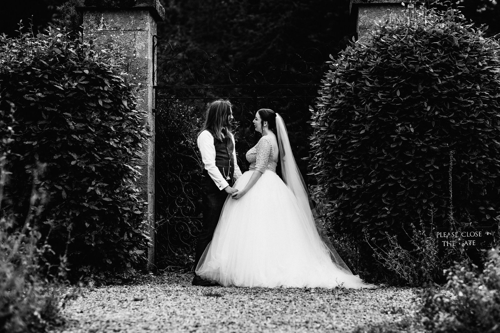 Bride and groom at Swinton park