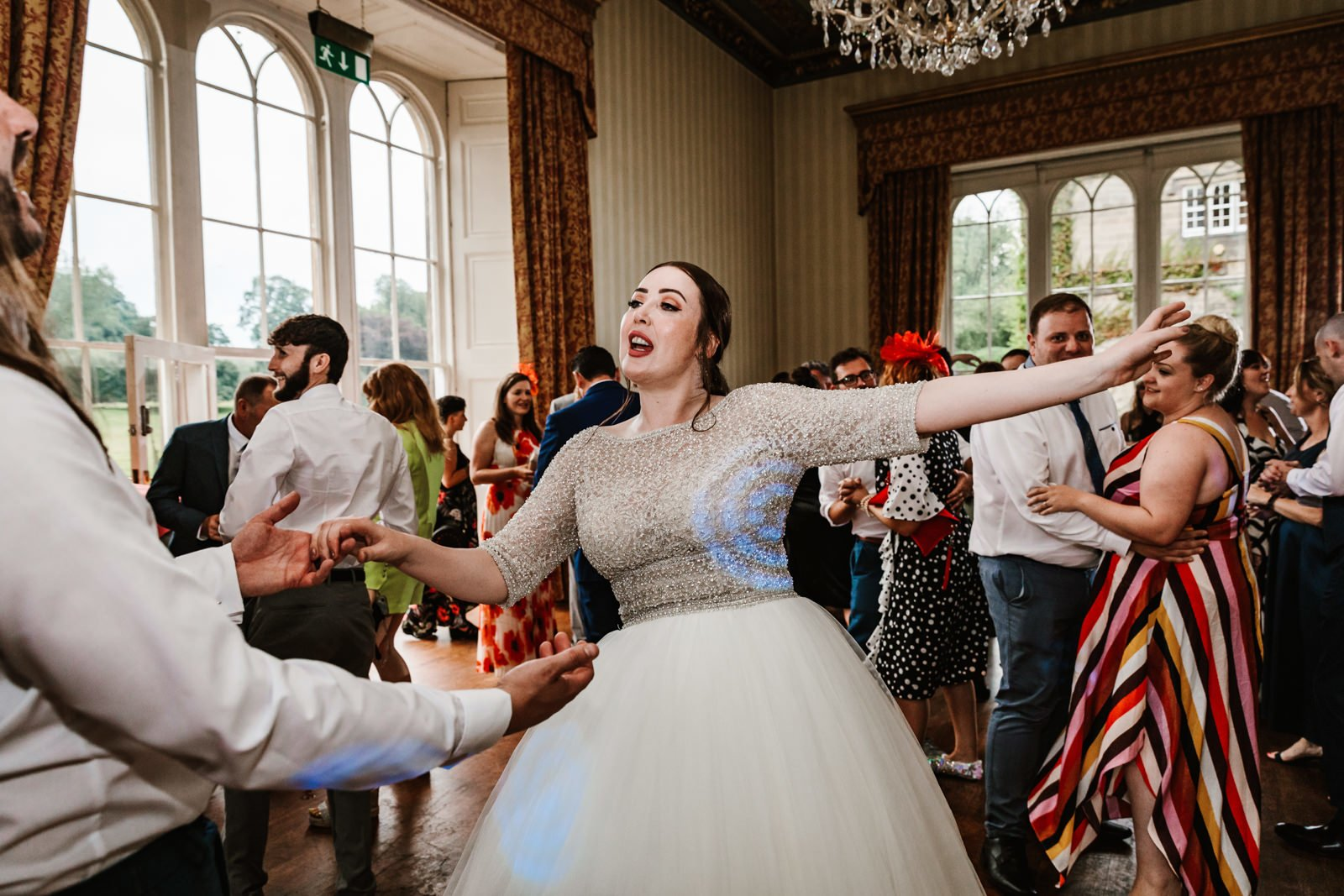 Bride and groom first dance at swinton park