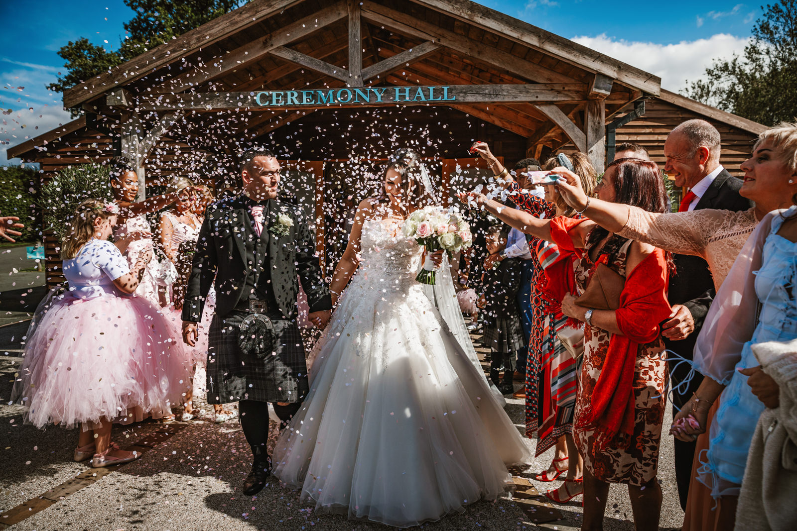 Confetti at Colshaw hall