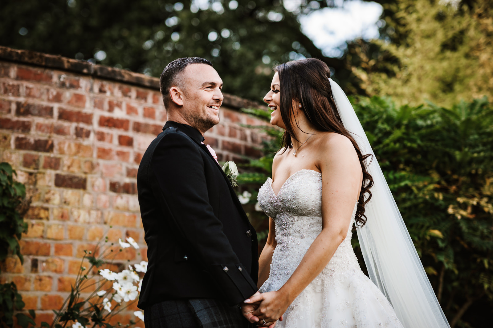 Bride and Groom at Colshaw Hall