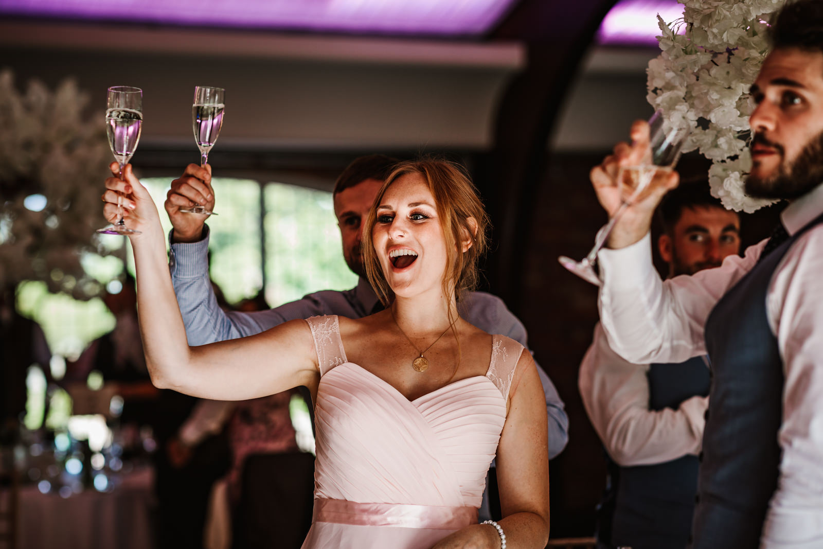 A toast at Colshaw Hall