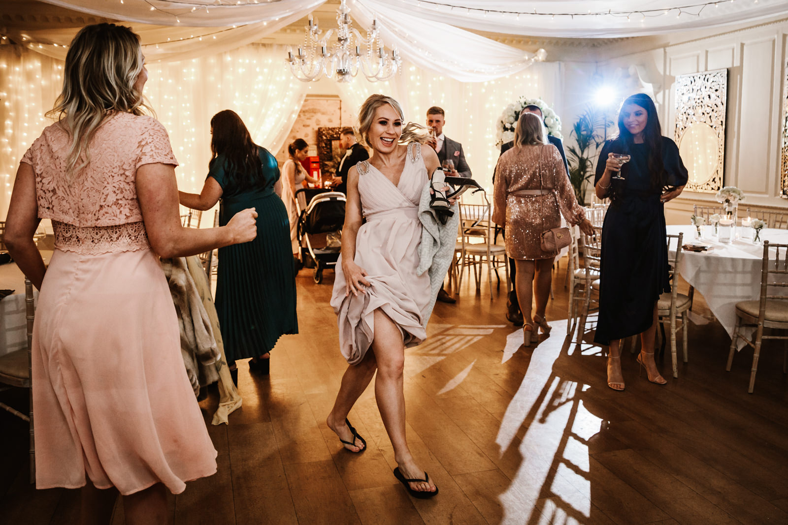 Bridesmaid hitting the dance floor
