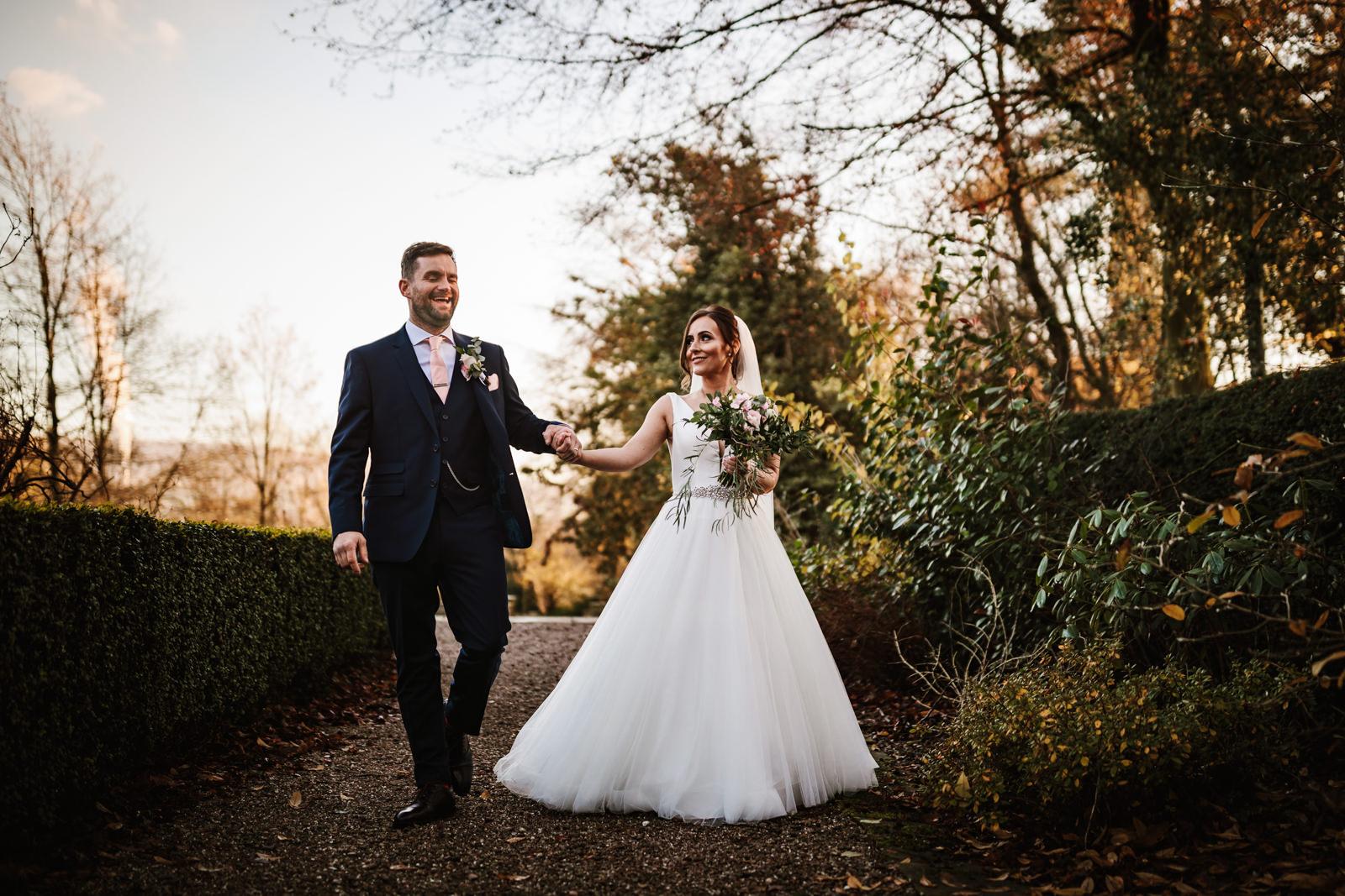Bride and groom Eaves Hall