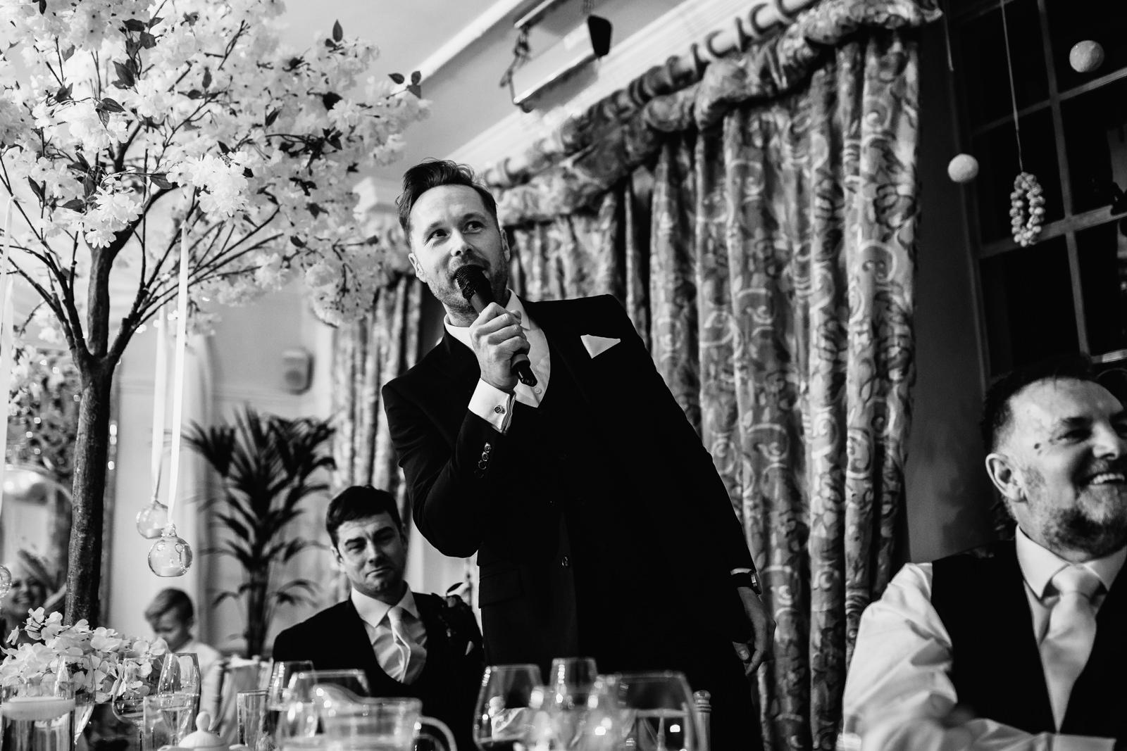 Best man giving hs speech