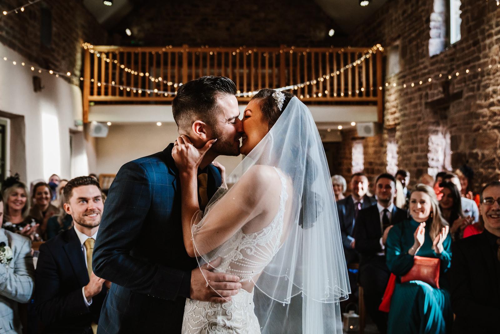 First kiss at the Ashes Barns